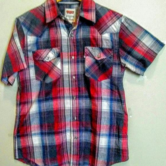 cba81b4c6d Levi s Shirts - Vintage Levi s S Pearl Snap Shirt. Levi s Other - Vintage  Levi s S Pearl ...